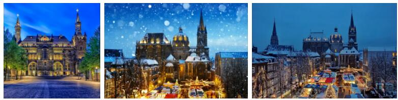Universities and Churches in Aachen, Germany